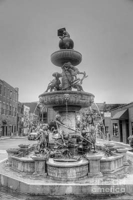 Water Fountain Art Print by Kathleen Struckle