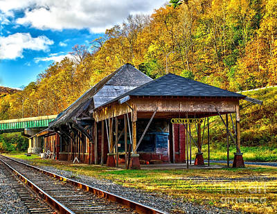 Photograph - Water Gap Station by Nick Zelinsky