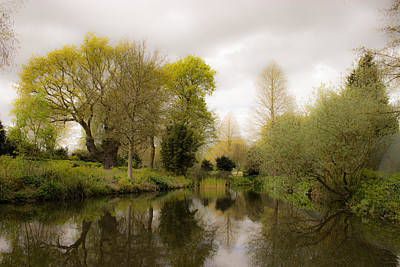 Spring Scenery Photograph - Water Garden Beth Chatto Essex by Martin Newman