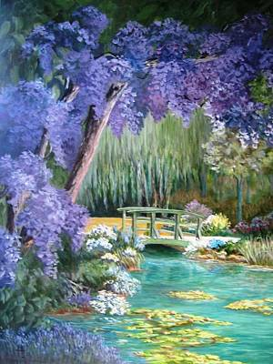 Water Garden Art Print by Teresita Hightower