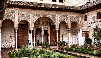 Photograph - Water Gardens Of The Palace Of Generalife by Weston Westmoreland