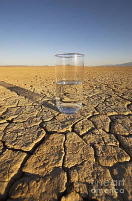 Water Glass & Dry Lake Art Print by GIPhotoStock