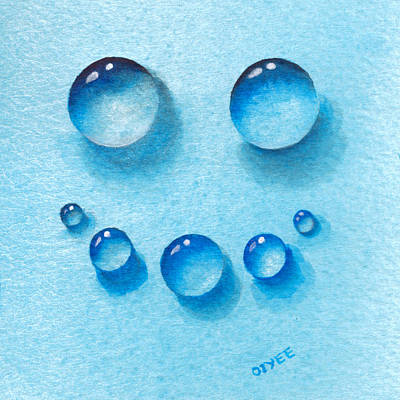 Painting - Water Happy Face by Oiyee At Oystudio