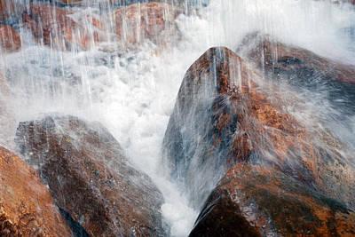 Photograph - Water Hitting Rocks by Larah McElroy