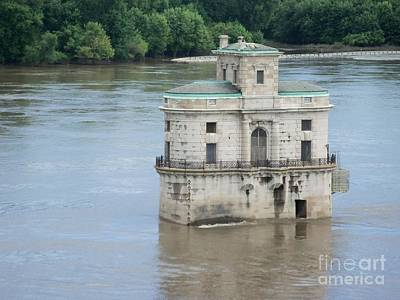 Art Print featuring the photograph Water House by Kelly Awad
