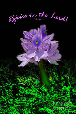 Water Hyacinth - Psalm 97 Art Print
