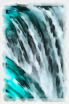 Painting - Water In Aquarell by Charles Muhle