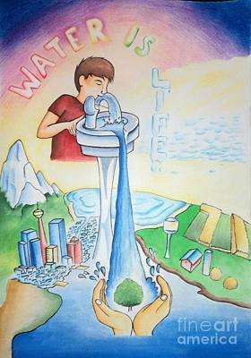 Water Is Life Art Print by Tanmay Singh