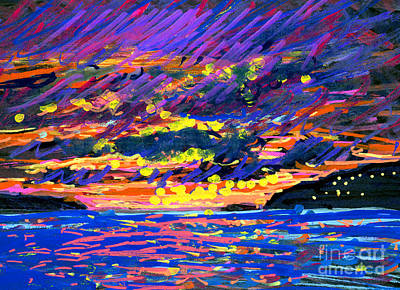 Saba Painting - Water Island Sunset by Candace Lovely