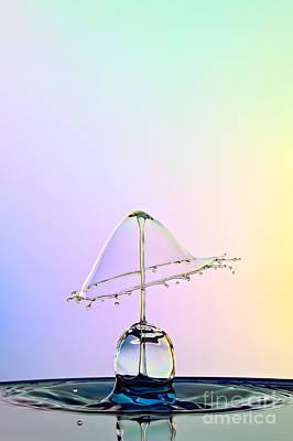 Water Drop Photograph - Water Lamp by Susan Candelario