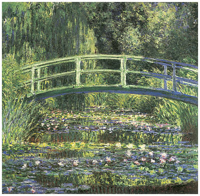Water Lilies And Japanese Bridge Art Print by Claude Monet
