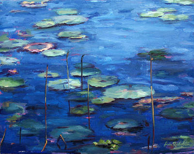 Painting - Water Lilies by Erin Rickelton