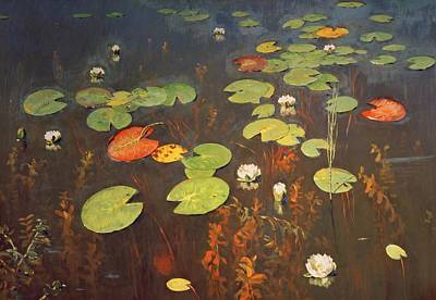 1895 Painting - Water Lilies by Isaak Ilyich Levitan