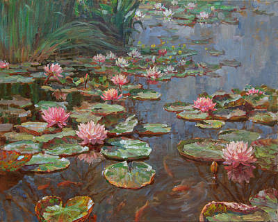 Water Lilies Art Print by Korobkin Anatoly