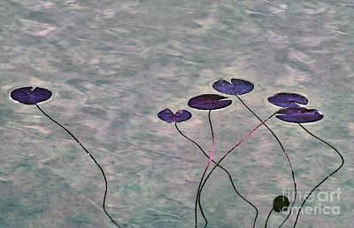 Digital Art - Water Lilies by Leo Symon
