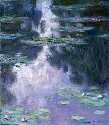 Water Lilies Nympheas Art Print by Claude Monet