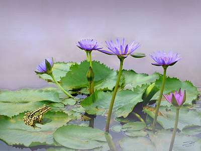 Painting - Water Lilies Of Vietnam by IM Spadecaller
