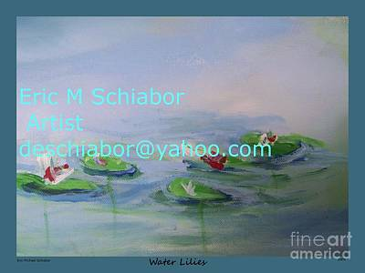 Water Lilies Print Art Print by Eric  Schiabor