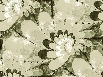 Water Lilies Spirals Art Print
