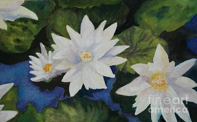 Painting - Water Lilies by Susan M Fleischer