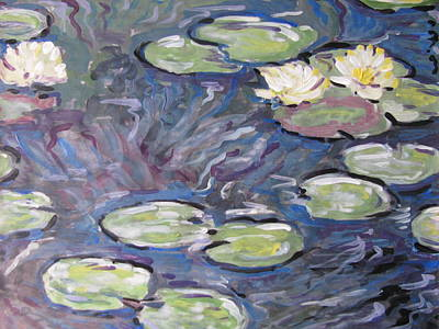 Art Print featuring the painting Water Lilies by Vikram Singh