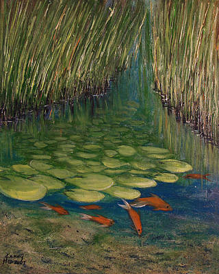 Lilly Pond Mixed Media - Water Lillies by Kenny Henson