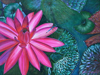 Painting - Water Lilly Garden by Jodi Terracina