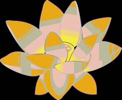Painting - Water Lilly Pop Art by Florian Rodarte
