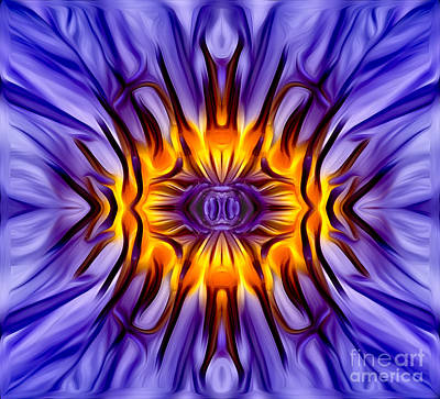 Digital Art - Water Lily Abstract by Susan Candelario