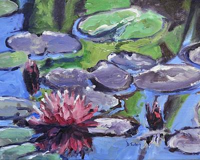 Lilly Pond Painting - Water Lily by Donna Tuten