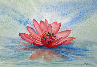 Painting - Water Lily by Elvira Ingram