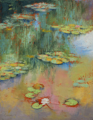 Pond Painting - Water Lily by Michael Creese