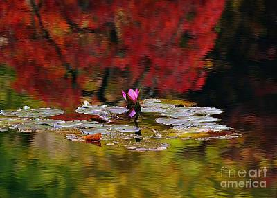 Art Print featuring the photograph Water Lily Reflection by Lisa L Silva