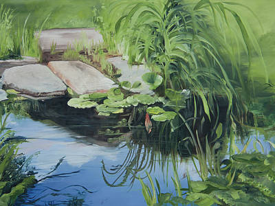 Painting - Water Lily Reflections by Jane Autry