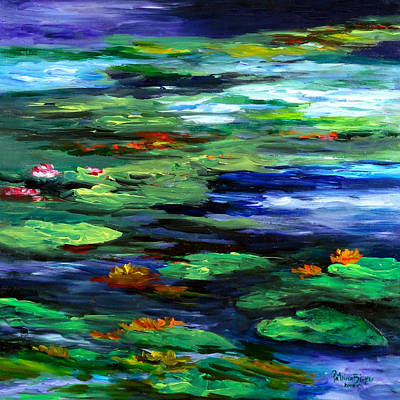 Lilly Pond Painting - Water Lily Somnolence by Patricia Brintle