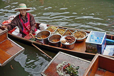 Photograph - Water Market Thailand 1 by Jeff Brunton