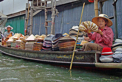 Photograph - Water Market Thailand 2 by Jeff Brunton