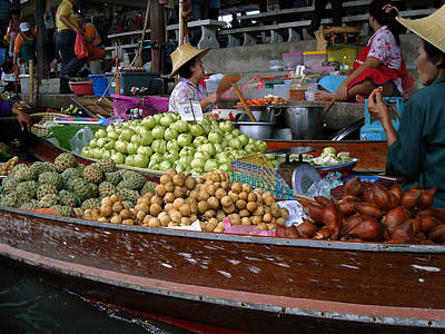 Photograph - Water Market Thailand 5 by Jeff Brunton