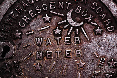Big Easy Photograph - Water Meter by John Rizzuto