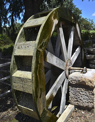 Photograph - Water Mill by Allen Sheffield