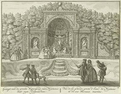 Water Neptunes Grotto In The Garden Of House Ter Meer Art Print by Hendrik De Leth
