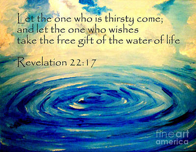 Save Our Water Painting - Water Of Life by Amanda Dinan