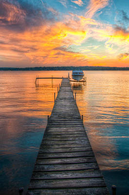Chautauqua Lake Photograph - Water On Fire by At Lands End Photography