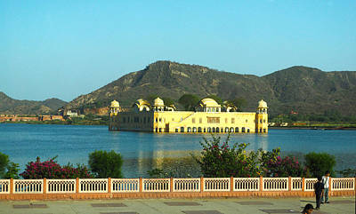 Photograph - Water Palace In Jaipur by C H Apperson