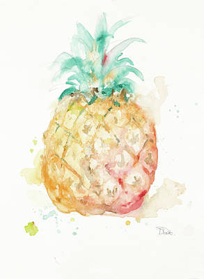 Water Pineapple Art Print by Patricia Pinto