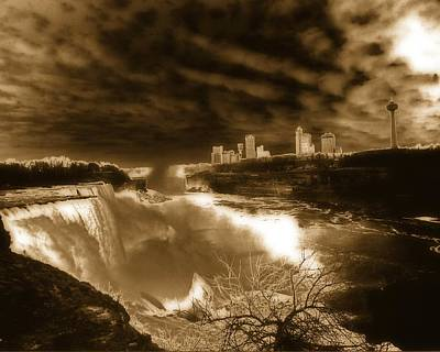The Mighty Power Of The Falls Art Print by Gothicrow Images