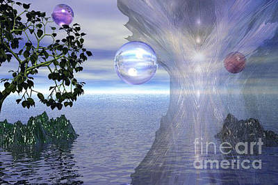 New Age Digital Art - Water Protection by Kim Prowse