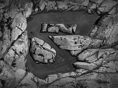 Photograph - Water Puddle On A Rock Formation by Randall Nyhof