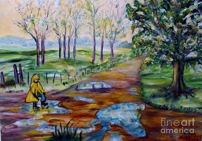 Painting - Water Puddles by Ellen Anthony