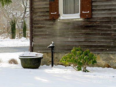 Photograph - Water Pump In The Snow  by Nancy Patterson